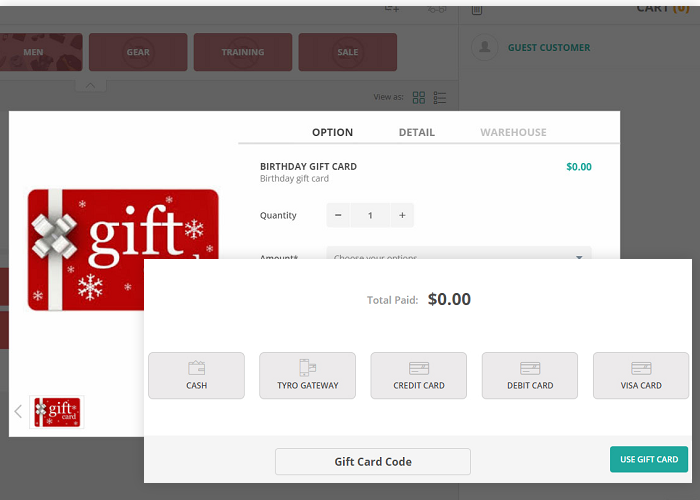 Gift Card for Magento 2. Drag and Drop