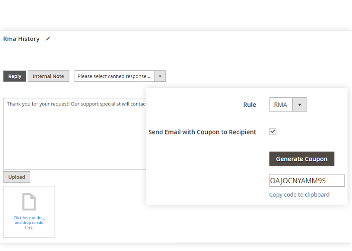 RMA for Magento 2. Elements Configurations