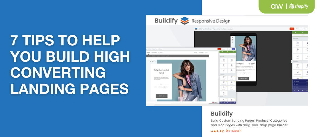 Landing pages with Buildify