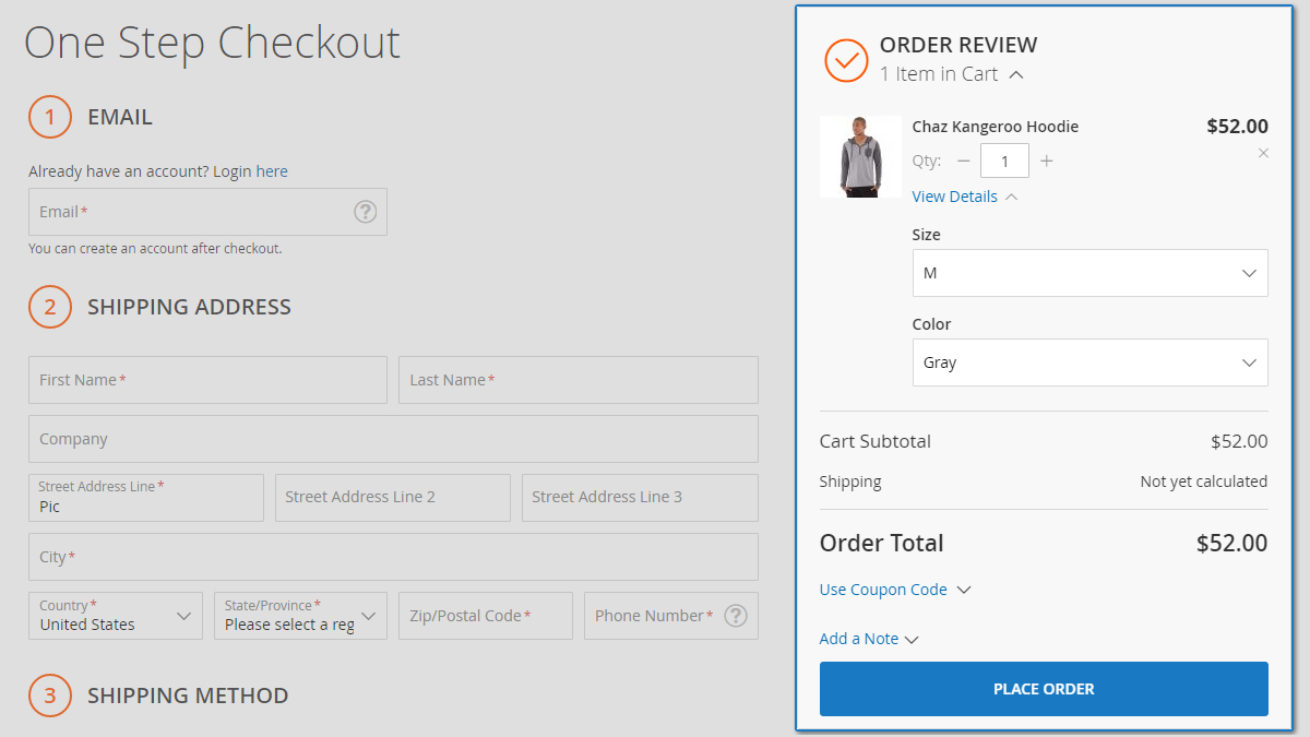 Smart One Step Checkout for Magento 2