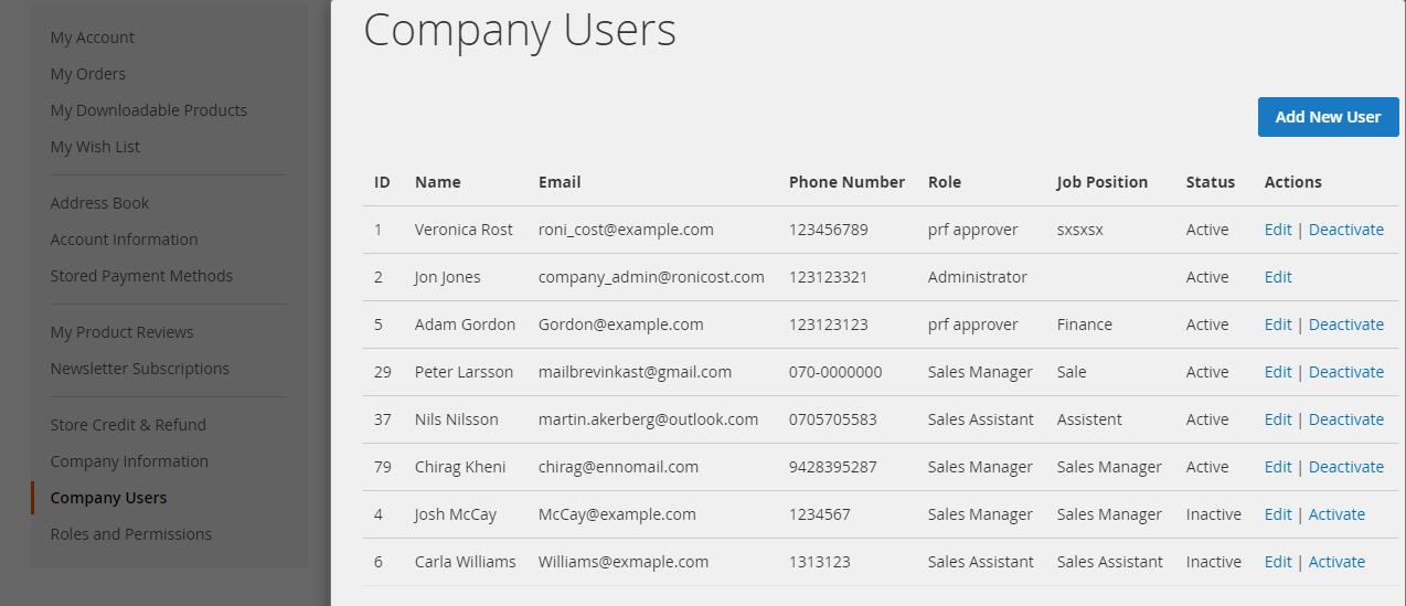 Company Users
