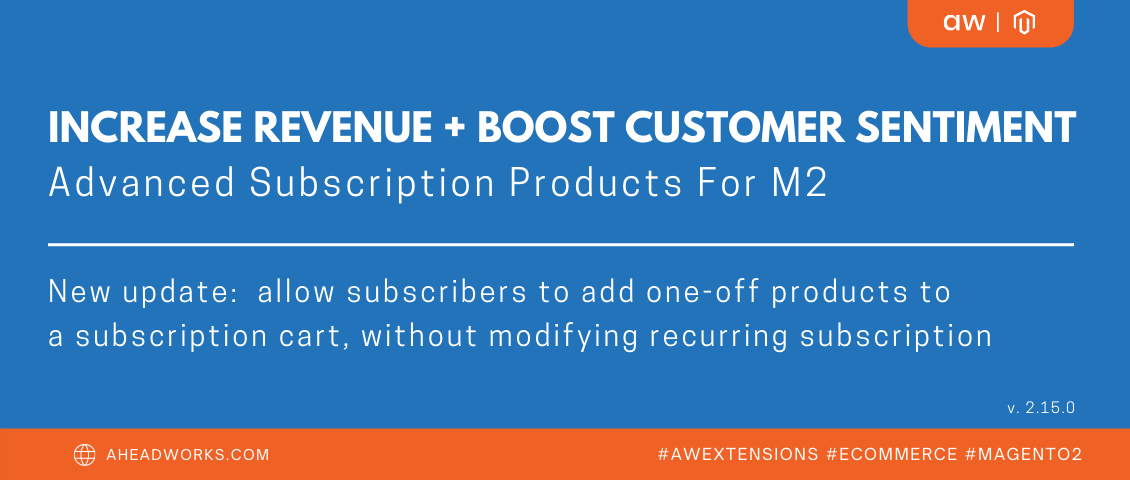 Magento 2 Advanced Subscription Products | Aheadworks