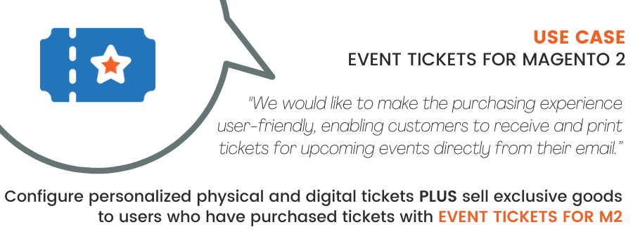 Magento 2 Event Tickets Use Case